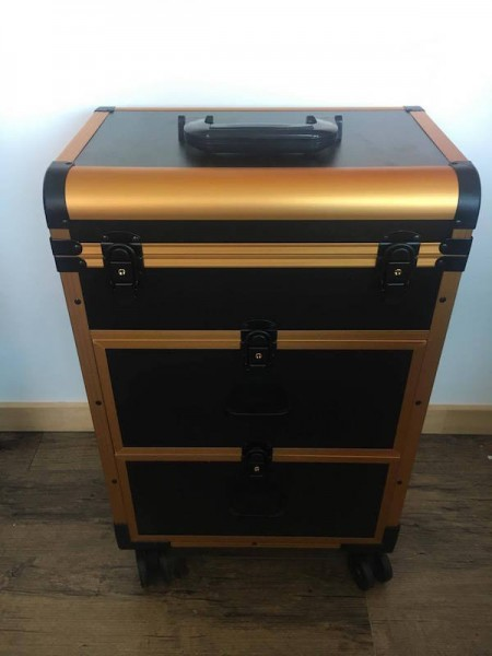 Make Up trolley - Black and Gold