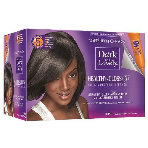 Dark and Lovely-Healthy gloss 5 Relaxer Kit Super