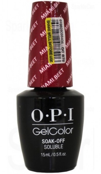 OPI GelColor  Miami Beet 0.5 oz