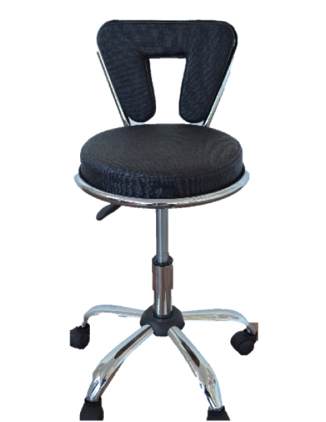 Beautician Stool With Backrest