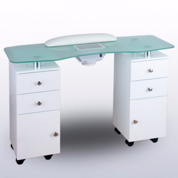 Manicure Table Glass top