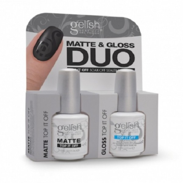 Gelish Matte and Gloss Duo